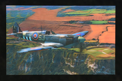 Lenticular Spitfire & Memorial Picture