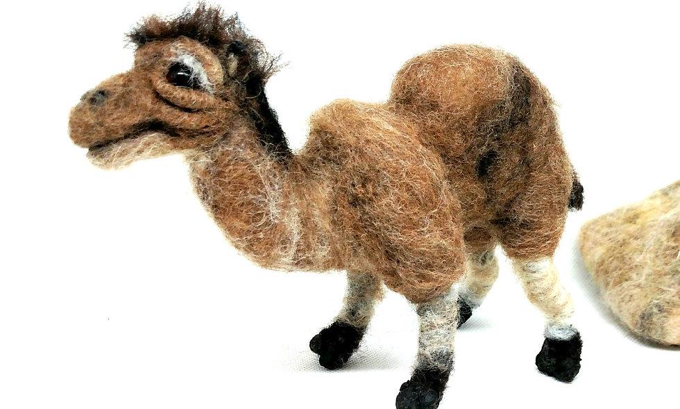 Needle Felted Camel, Camel Sculpture