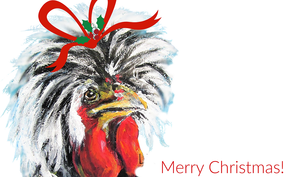 Christmas, Holiday Card, Chicken  Christmas  Card