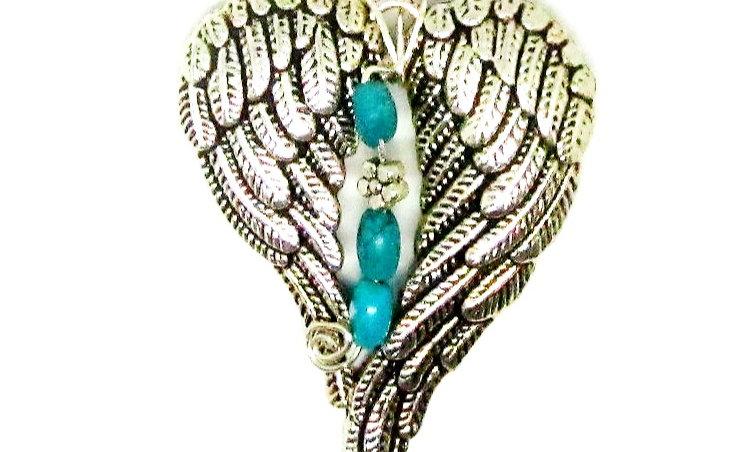 Angel Wings, Angel Pendant,  Bereavement Angel Wings Necklace, Grief Gift, SJO H
