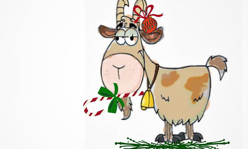 Christmas, Holiday Card, Goat Christmas  Card, Goat Holiday/Chris