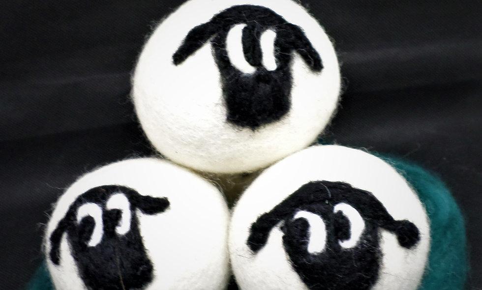 Dryer Balls, sets of Three , Sheep