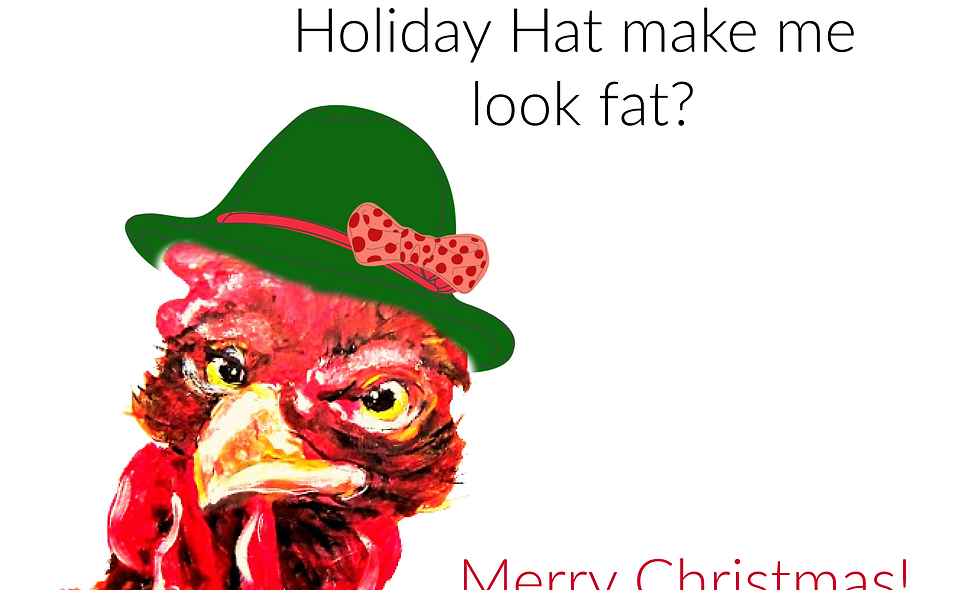 Christmas, Holiday Card, Chicken Christmas  Card, Chicken Holiday/Chris
