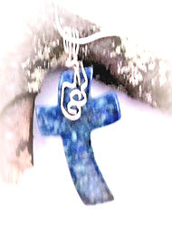 Blue Jasper Cross