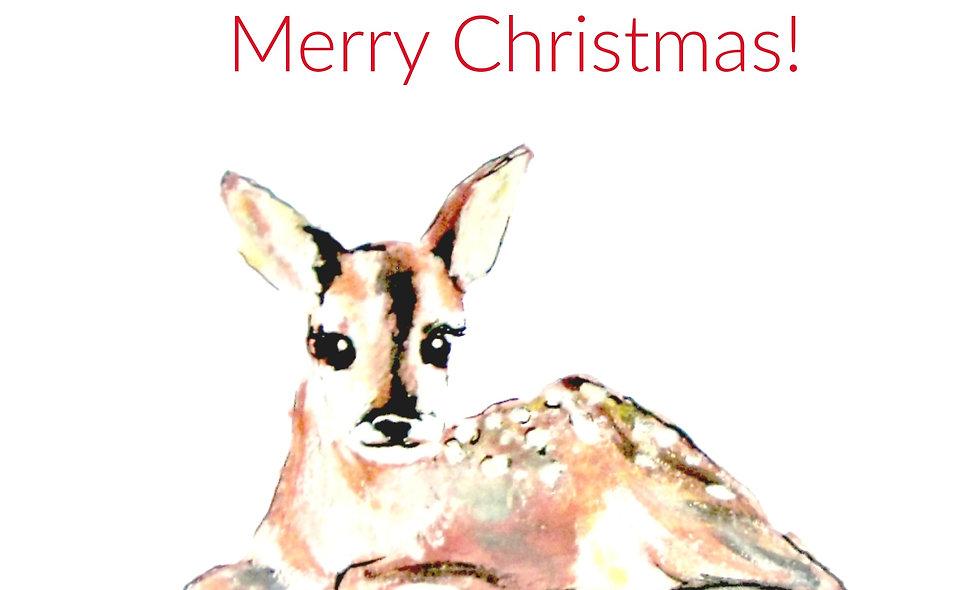 Christmas, Holiday Card, Deer  Christmas  Card, Deer Holiday/Chris