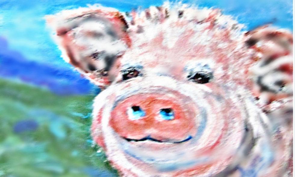 Smiling Pig Print