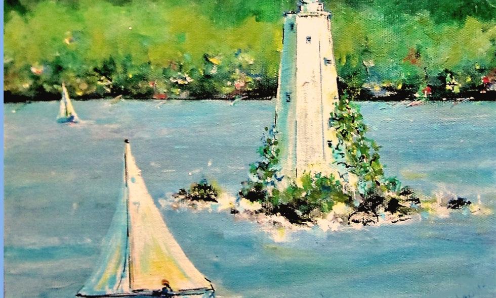 Lake Sunapee Sailboat Print