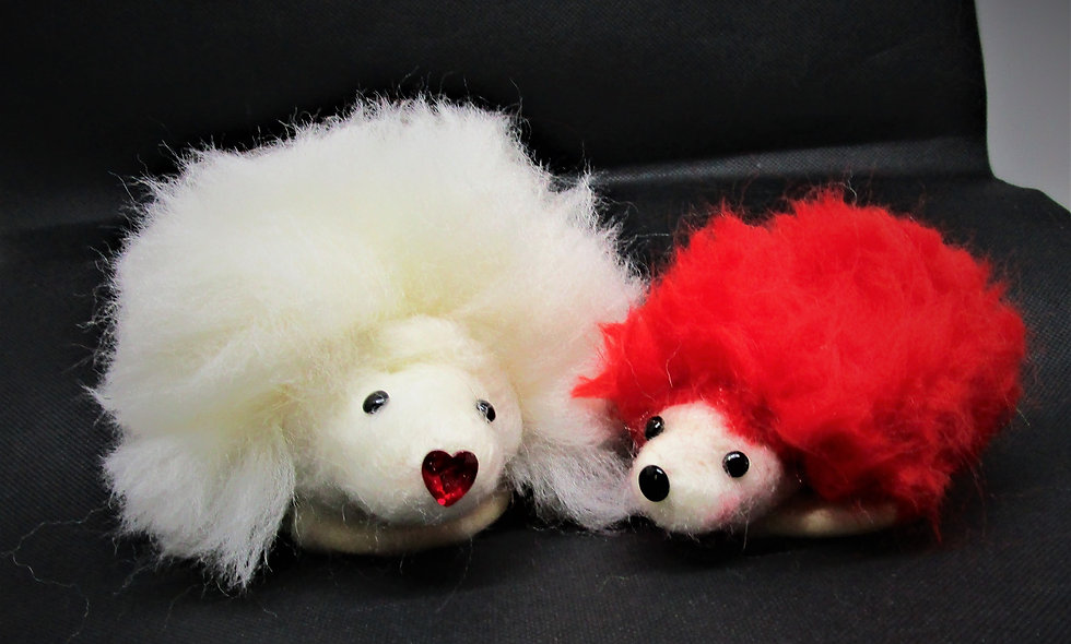 Valentines Gift,  Hedgehog, Porcupine,   Felted Pin Cushion