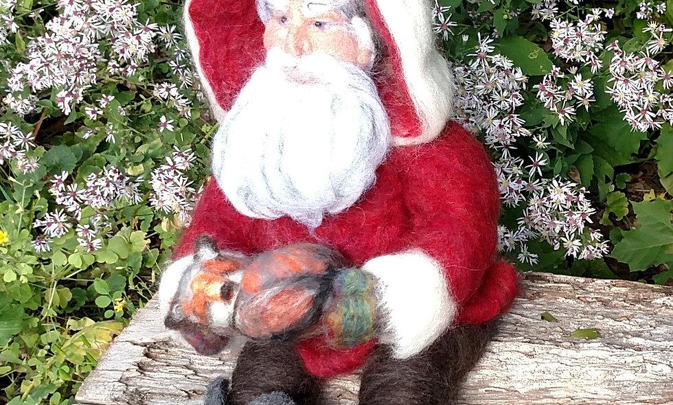 Needle Felted Woodland Santa