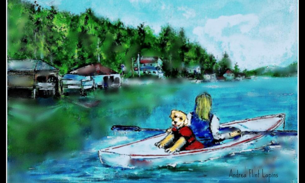 Laminated Placemat, Sunapee Harbor, Lake Sunapee NH