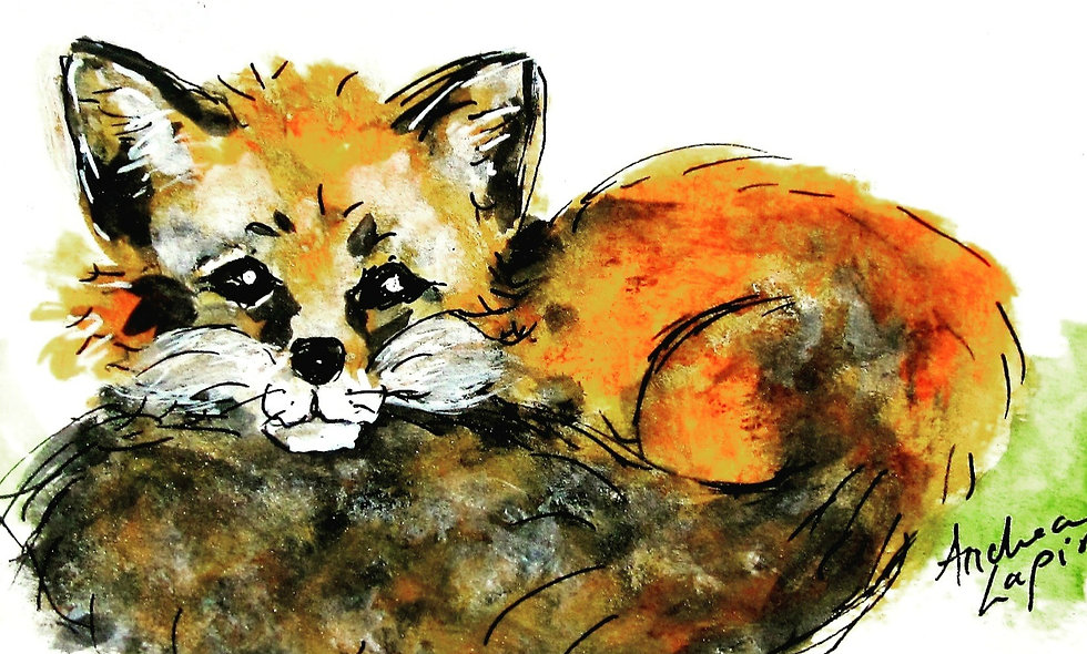 Little Red Fox Print - Great for Nursery!