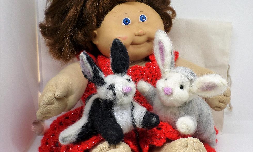 Photo Prop Bunny Set of Two, Newborn Photo Prop