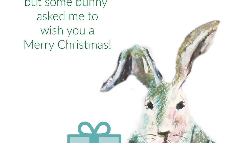 Bunny Holiday Card, Christmas Card, Holiday Card, Chicken  Christmas  Card