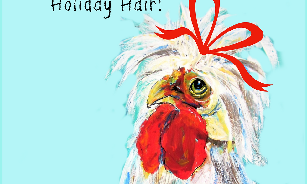 copy of Christmas, Holiday Card, Chicken  Christmas  Card