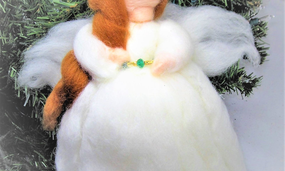 Felted Angel Tree Topper  10 Inch