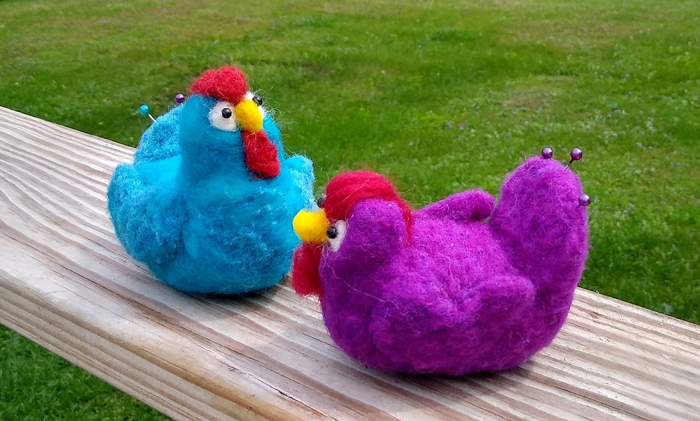 Pin Cushion, Hen, Chicken Lovers, Crafters, Sewers, Felted Pin Cusion