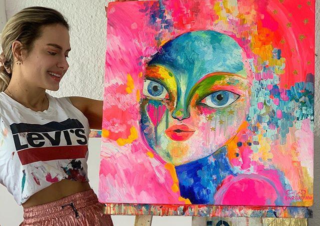 👽 FEMALIEN 👽 óleo sobre canvas. . . .