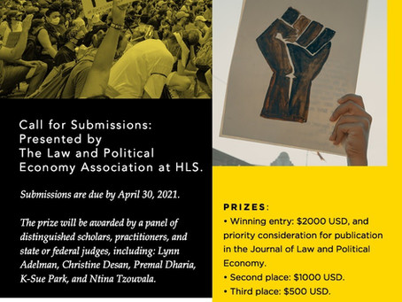 Call for Submissions — Law and Political Economy Writing Prize