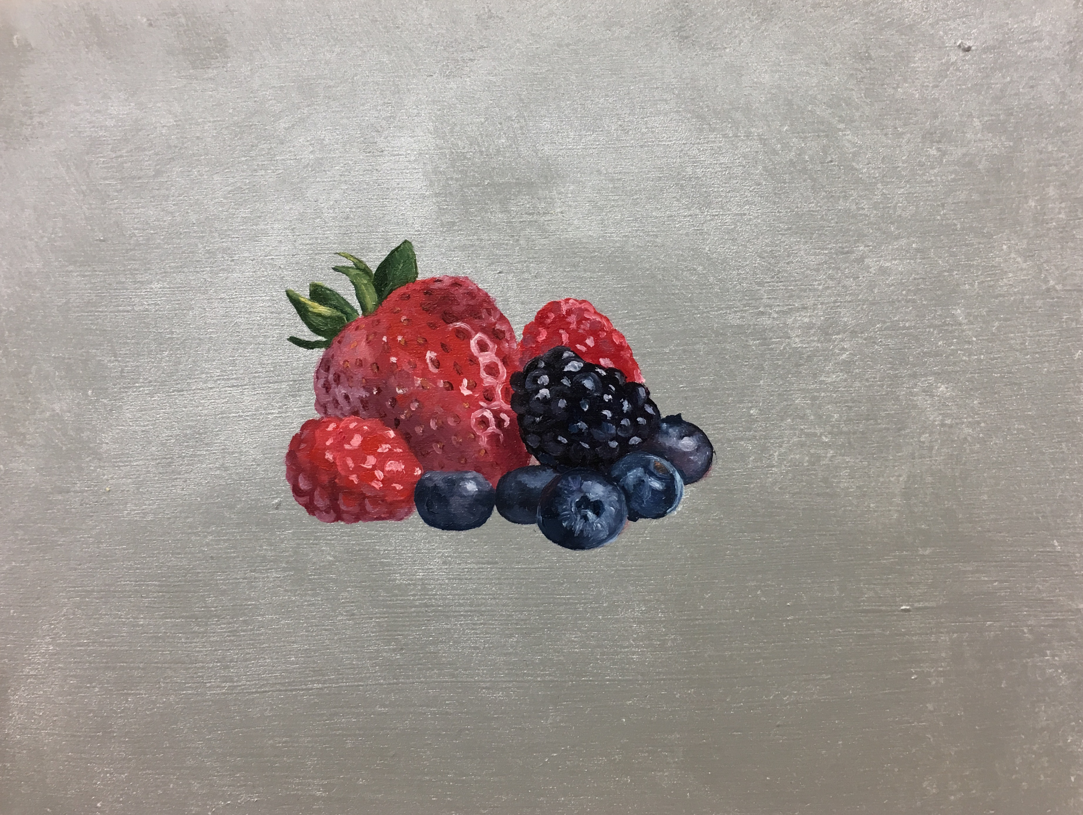 Berries on silver