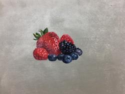 Berries on silver