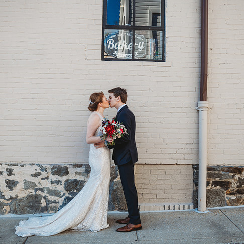 Winter Main Street Ballroom Wedding