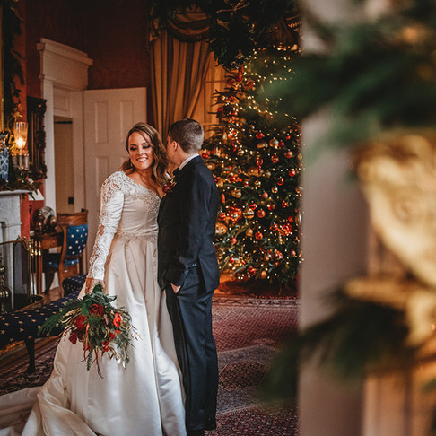 Ali & Dave   An Elegant Christmas Wedding   Antrim 1844