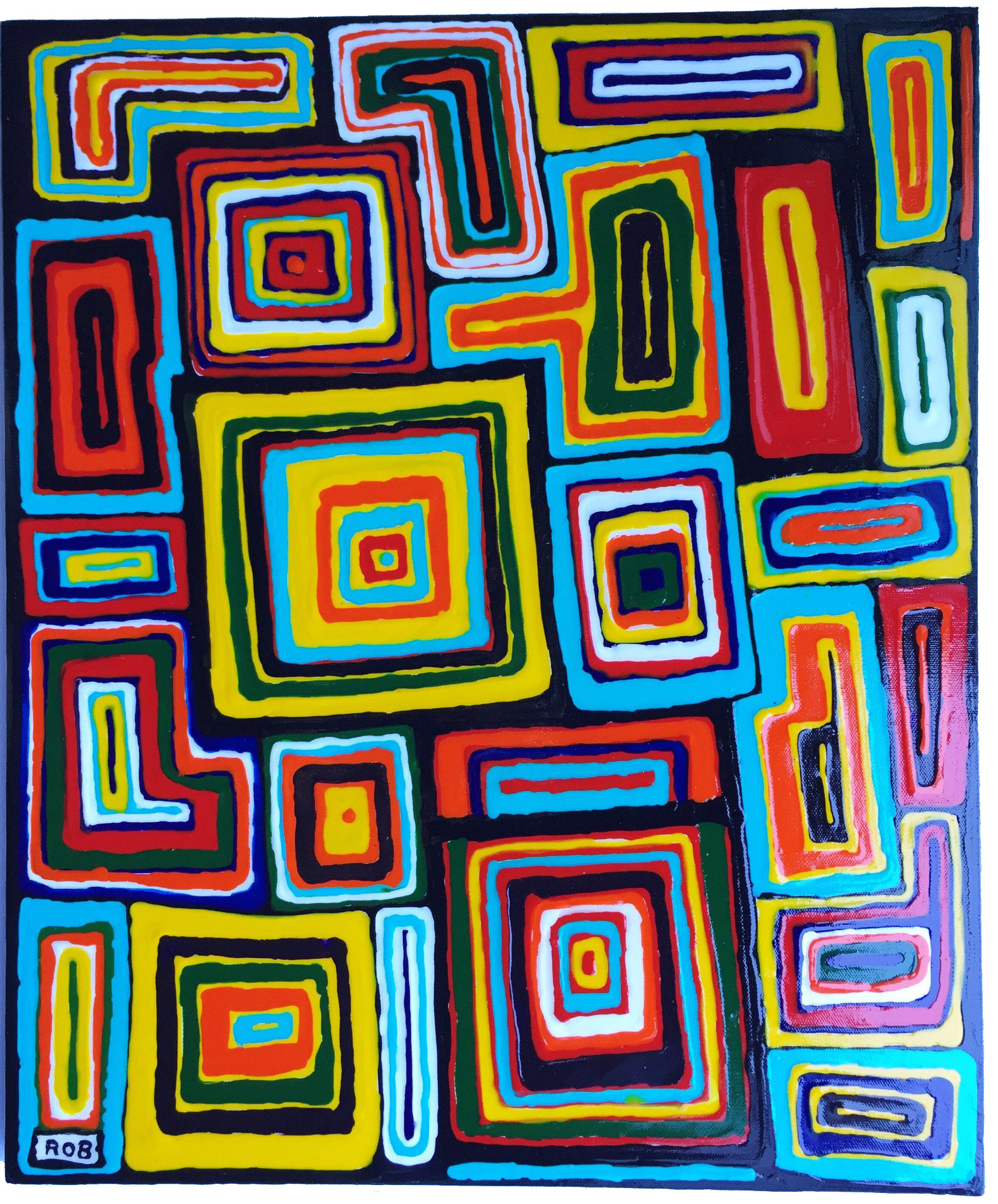 Rob Johnson Abstract Painting 5