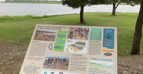 Sign Educates Park Visitors on the Living Shoreline Project