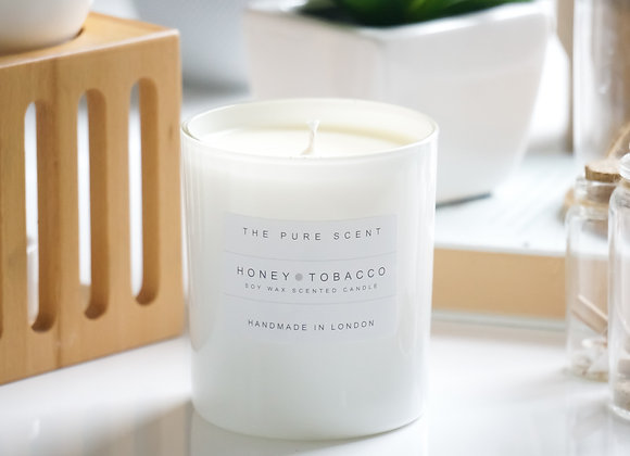 Honey & Tobacco Soy Candle in a Glass