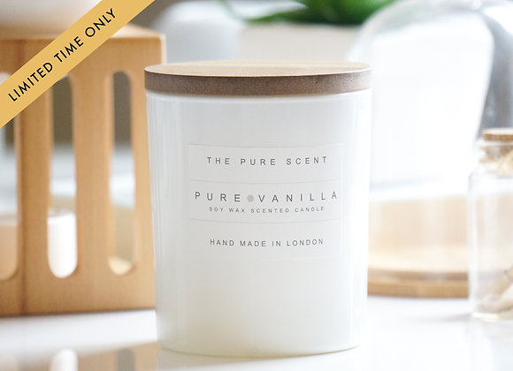 Pure Vanilla Soy Candle in a Glass