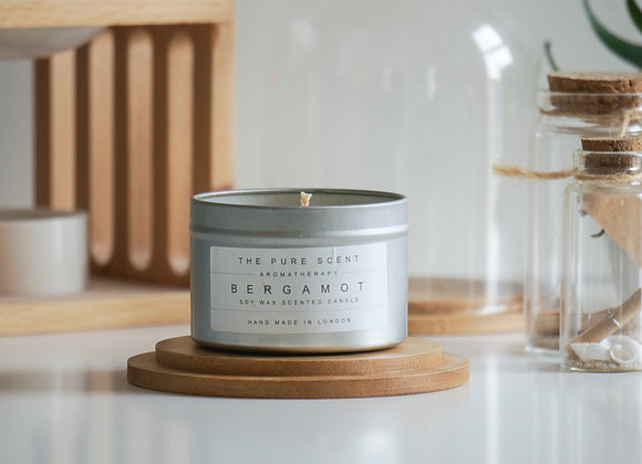 Bergamot Soy Candle in a Tin