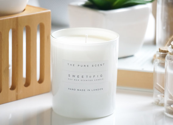 Sweet Fig Soy Candle in a Glass