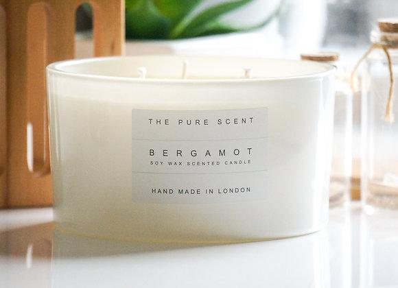 Bergamot Large 3 Wick Soy Candle