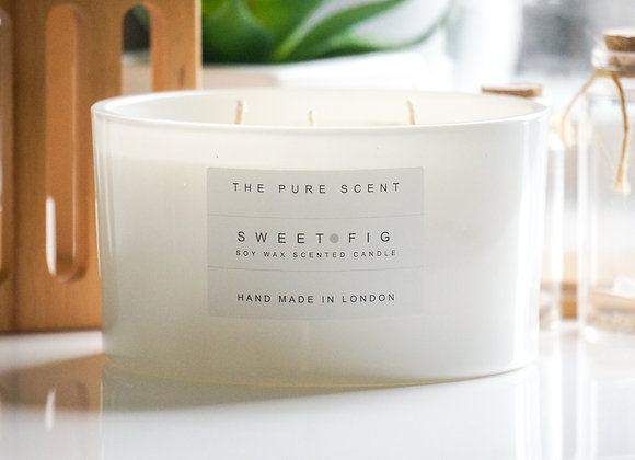 Sweet Fig Large 3 Wick Soy Candle