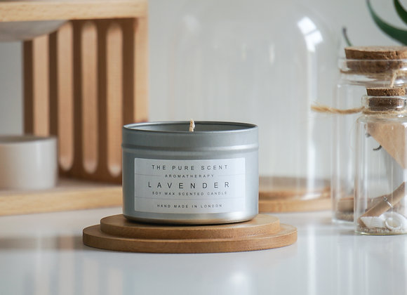 Lavender Soy Candle in a Tin