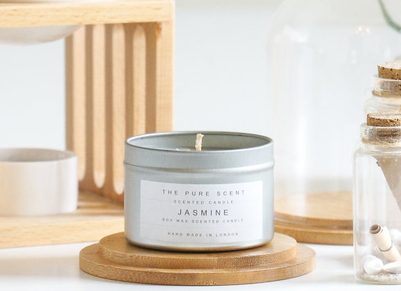 Jasmine Soy Candle in a Tin