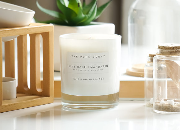 Lime Basil & Mandarin Soy Candle in a Glass