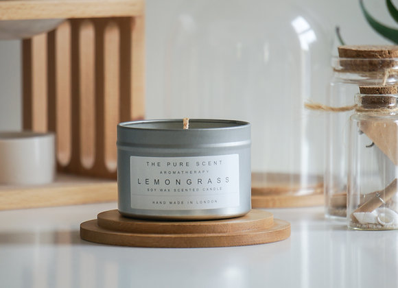 Aromatherapy Lemongrass Candle in a Tin