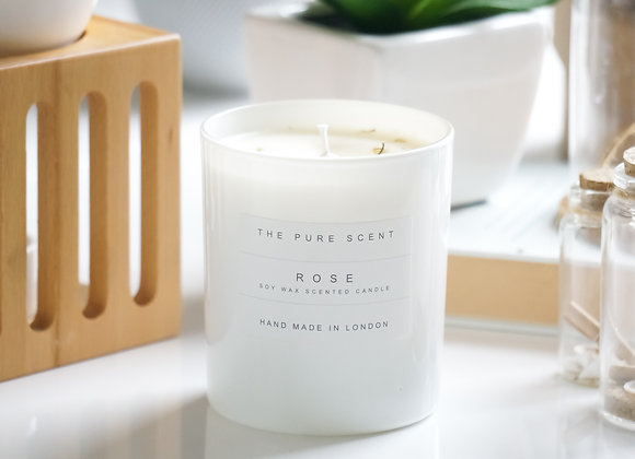 Rose Soy Candle in a Glass