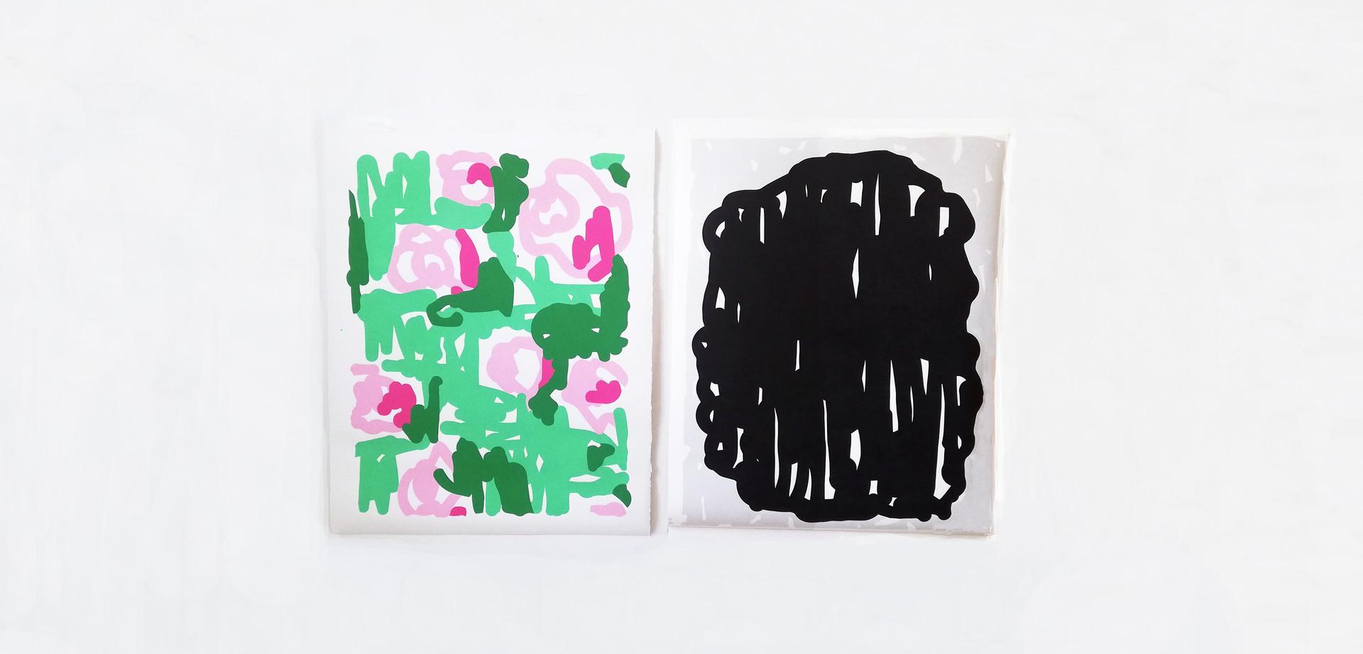 """""""Roses"""" & """"Sans Titre"""" - Olivier ROCHEAU"""