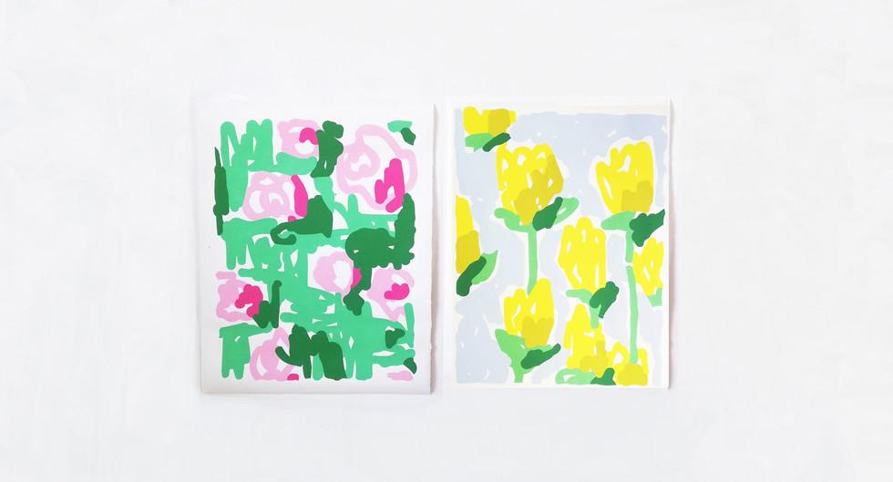 Roses & Jonquilles - Olivier ROCHEAU