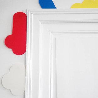 Sans titres modules bleu blanc rouge et jaune d' oeuvres d'Olivier Rocheau