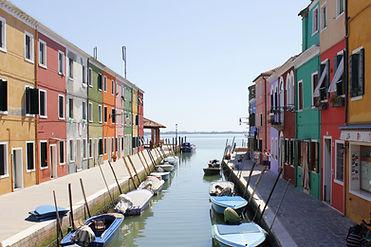 Colorido laguna de Venecia