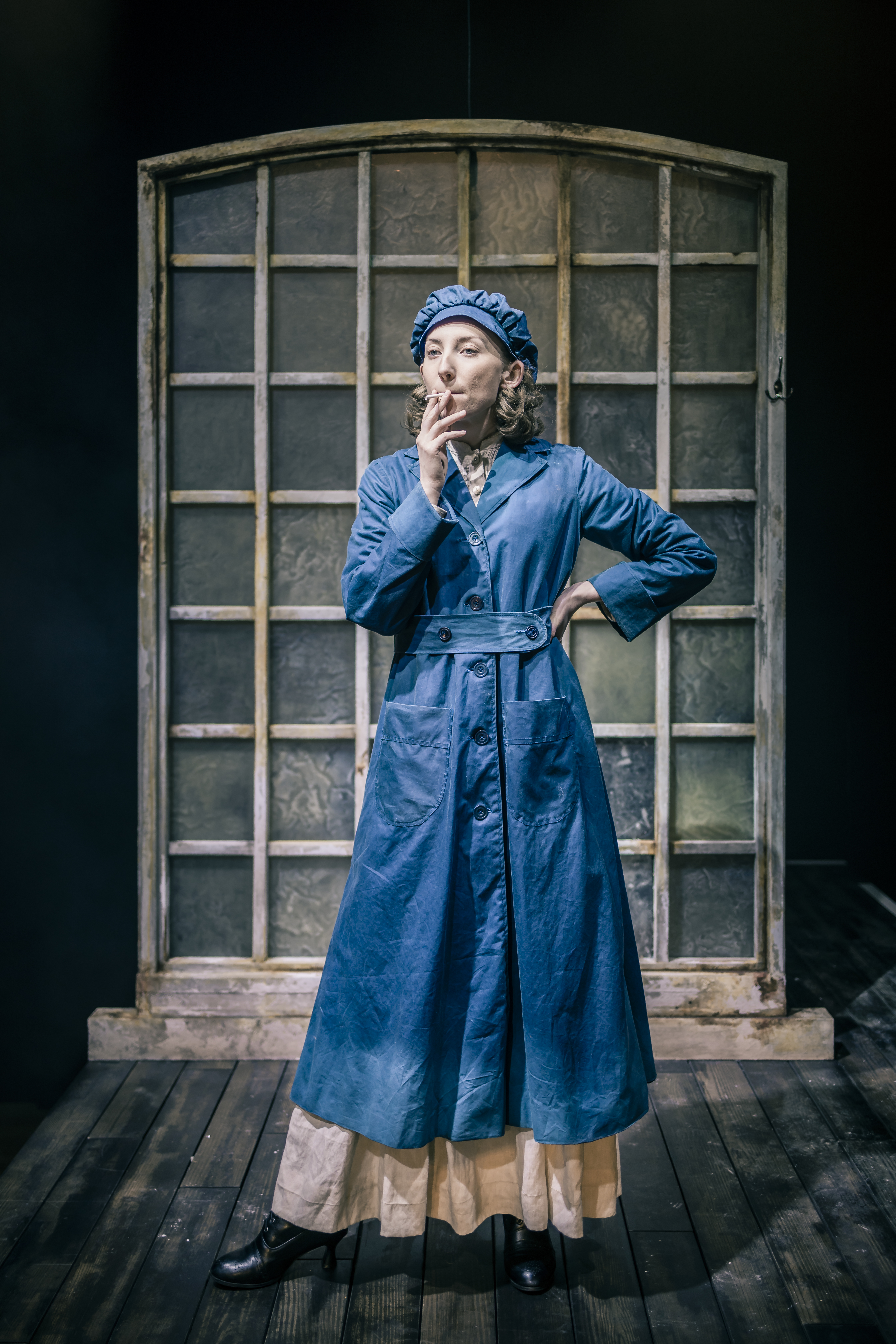 Eve Douglas | Waxed Cotton Overcoat With Matching Cap