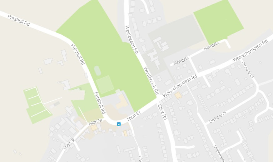 Map of Pattingham Village Hall