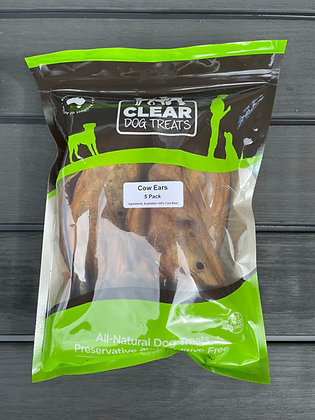 Cow Ears - Clear Dog