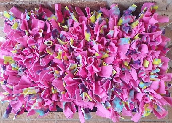 Snuffle mat: Pink Flowers