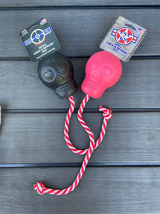 SodaPup Skull Reward Toy with rope