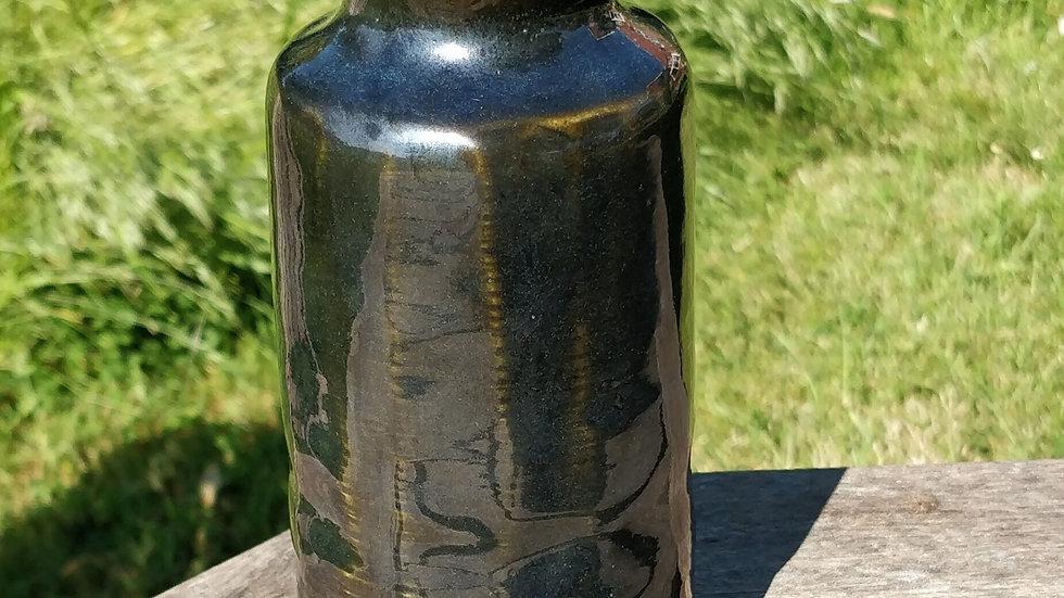 Dark blueish green bottle vase