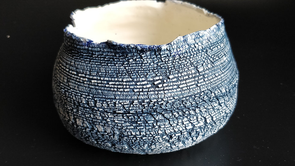 Cobalt and White Serving dish